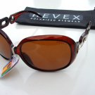 REVEX LADIES POLARISED POLARIZED CLEAR BROWN SUNGLASSES & POUCH P615