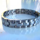 NEW MAGNETIC THERAPY POLISHED & BRUSHED STAINLESS STEEL BRACELET UNISEX