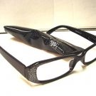 STYLISH READING GLASSES DESIGNER BLACK SILVER +1.5 D503
