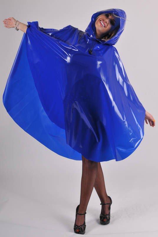TOP QUALITY UNISEX BLUE PVC PONCHO RAINCOAT MAC COAT FESTIVAL CAMPING PR11