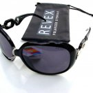 REVEX LADIES POLARISED POLARIZED BLACK SUNGLASSES & POUCH P615