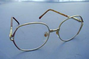 NEW LARGE RETRO READING GLASSES GOLD METAL FRAME PINK TRIM +1.5 PREMIER L
