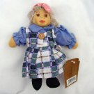 "NEW CERAMIC HEAD COLLECTABLE GIRL DOLL 8"" HIGH BL"