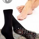 NEW TOURMALINE SELF HEATING PAIR OF SOCKS MAGNETIC SUPPORT THEROPY