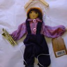 "BOY PUPPET MARIONETTE WITH TROMBONE 9"" HIGH COLLECTABLE"