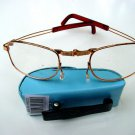 FOLDING READING GLASSES WITH BLUE CLIP CASE +1.5  F2