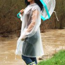 TOP QUALITY UNISEX CLEAR PVC RAINCOAT MAC RAIN COAT CAGOULE FESTIVAL CAMPING PR1