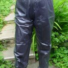 PVC OVERTROUSERS WATERPROOF RAINWEAR SEMI TRANSPARENT BLACK LG UNISEX DESIGN B5C