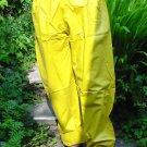 PVC OVERTROUSERS WATERPROOF RAINWEAR YELLOW LARGE UNISEX DESIGN B5C