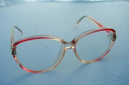 NEW RETRO READING GLASSES CLEAR PINK FRAMES + 1.5