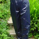 PVC OVERTROUSERS WATERPROOF RAINWEAR DARK NAVY M UNISEX DESIGN B5C