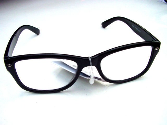 WAYFARER READING GLASSES BLACK +3.0 RETRO LOOK R4007