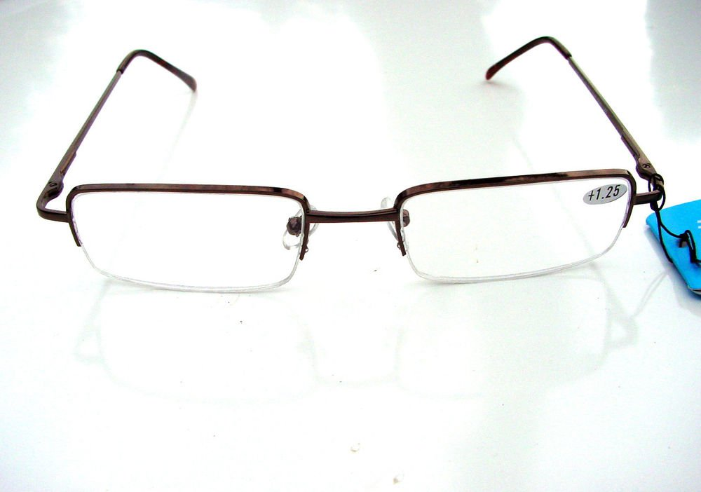 QUALITY READING GLASSES SPRUNG ARM HALF FRAME +3.0 E43