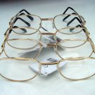 4 PAIRS OF READING GLASSES PALE GOLD METAL FRAMES +2.0 M141