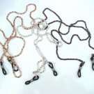 SET OF 3 GLASSES METAL NECK CHAINS CHAIN LANYARD CORD GOLD GUNMETAL SILVER 403AS