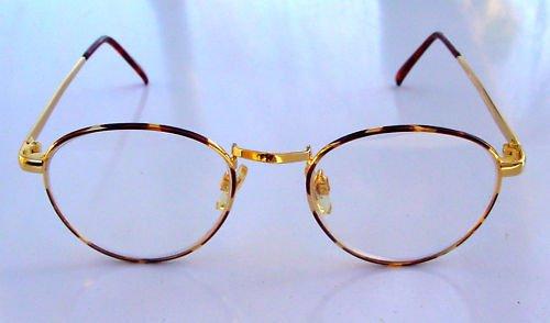 NEW SEMI ROUND READING GLASSES +1.25 GOLD COLOUR bay004