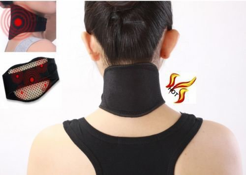 NEW TOURMALINE SELF HEATING NECK WRAP STRAP BRACE MAGNETIC SUPPORT THEROPY