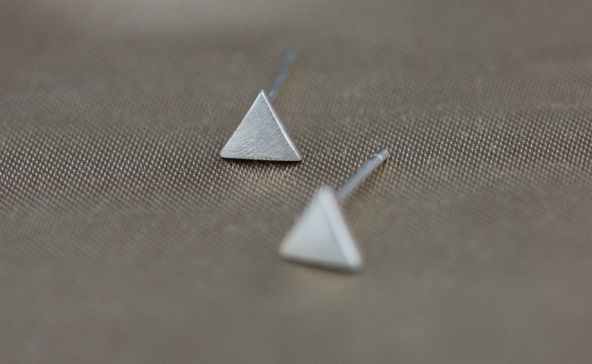 Sterling Silver 0.925 Triangle earring