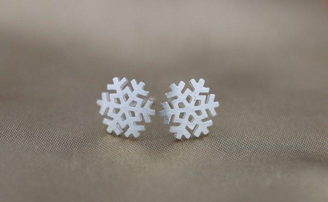 Sterling Silver 0.925 Snow Flower earring