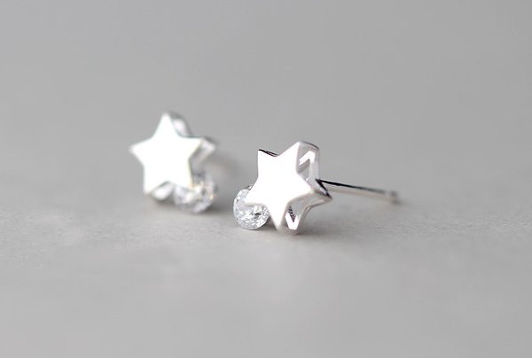 Sterling Silver 0.925 Star Earring