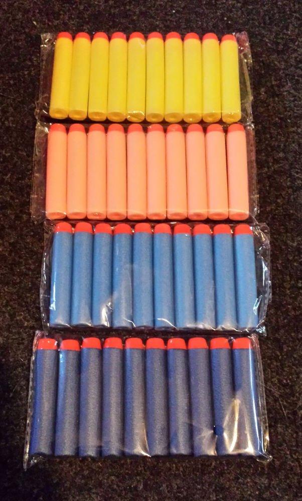 50pcs Nerf Bullet Darts N-STRIKE Toy Guns Orange Blue Yellow FAST USA SHIPPER