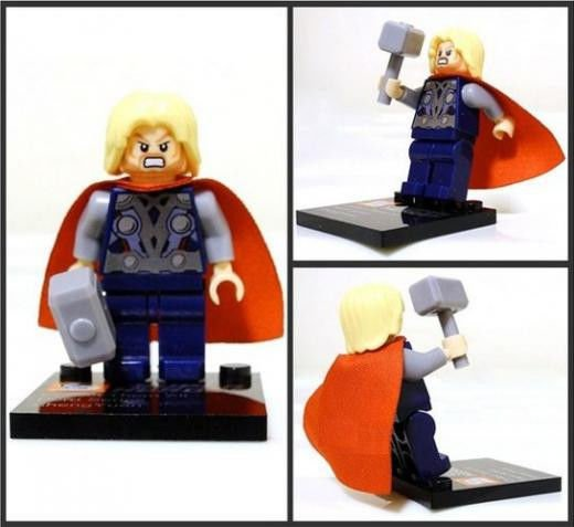 Thor Minifigure Super Hero Building Block Toy 1pc FAST USA SHIPPER