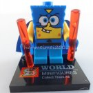 Super Spongebob Minifigure Spongebob Building Block Toy 1pc