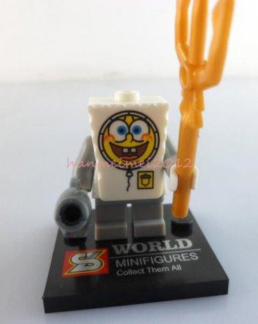 Spongebob Squarepants Minifigure Spongebob Building Block Toy 1pc