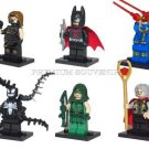Set of 6 Minifigures Super Hero Building Block Toys Odin Green Lantern Batman
