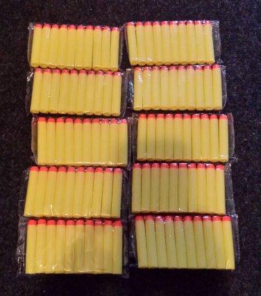 "100PCS 2.56"" Toy Gun Yellow Bullet Darts for NERF N-STRIKE GUNS Brand New"