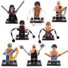 Set of 8 Wrestling Minifigures Building Block Toys WWE Kane Undertaker Rock