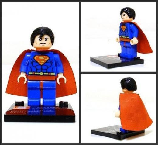 Superman Minifigure Super Hero Building Block Toy 1pc
