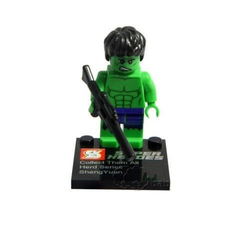 Hulk Minifigure Super Hero Building Block Toy 1pc FAST USA SHIPPER