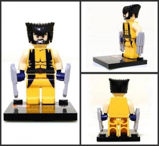 Wolverine X-Men Minifigure Super Hero Building Block Toy 1pc