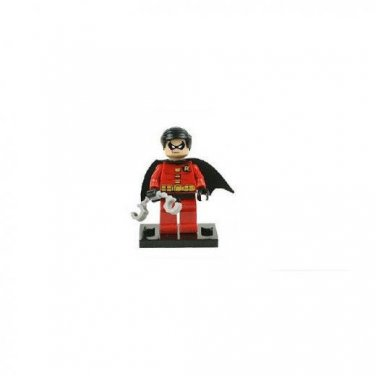 Robin from Batman Minifigure Super Hero Building Block Toy 1pc