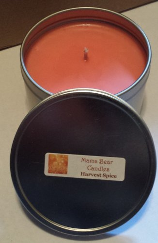 Harvest Spice Soy Candle in 8oz Tin with Lid