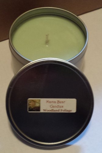 Woodland Foliage Soy Candle in 8oz Tin with Lid