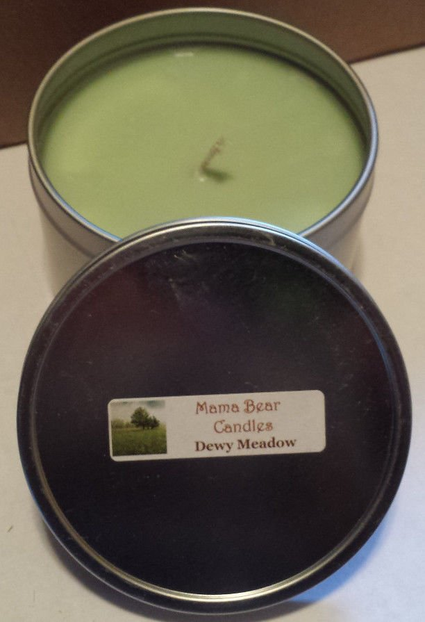 Dewy Meadow Soy Candle in 8oz Tin with Lid