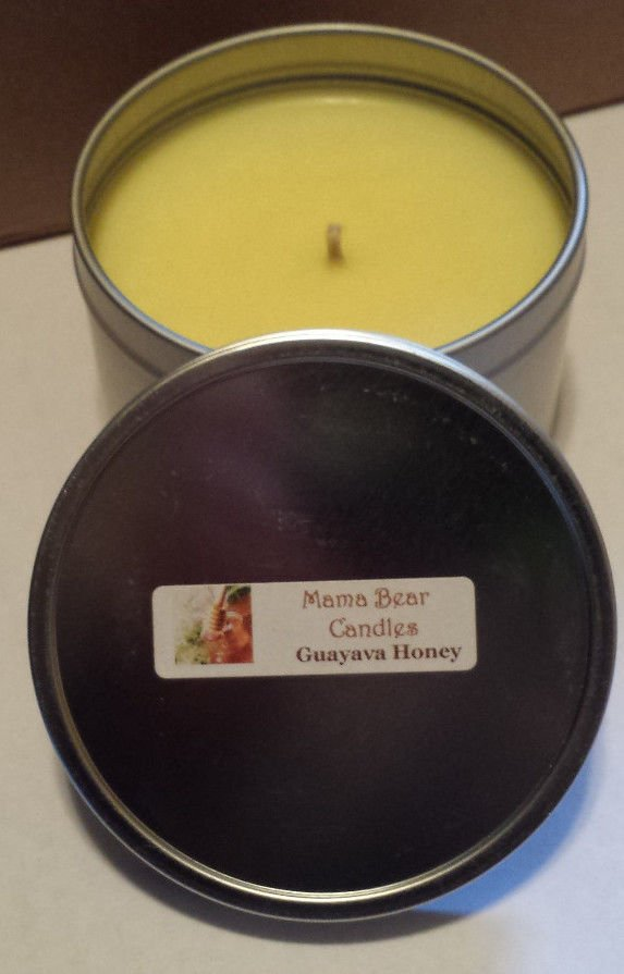 Guayava Honey Soy Candle in 8oz Tin with Lid