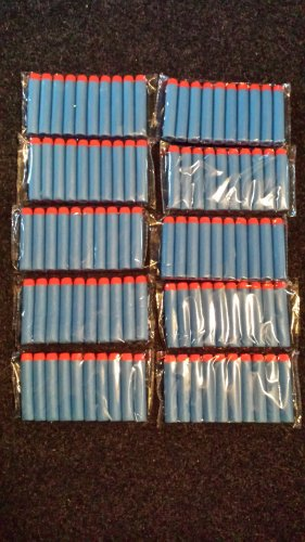 "100pc 2.75"" Blue Elite Nerf Darts"