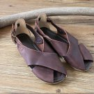 Genuine Leather pure handmade Fish mouth shoes For Women's