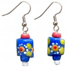 Handmade Painted Glass Drop Sister Earrings New Day Recycled Fair Trade
