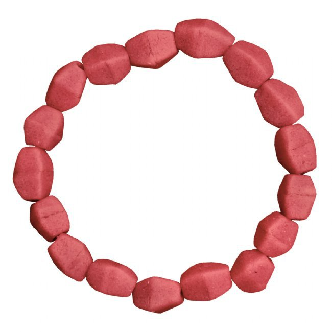 Recycled Glass Stretch Bracelet Pink Red Handmade Fair Trade