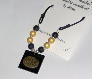 One of a kind necklace Simplify Everything black costume jewelry