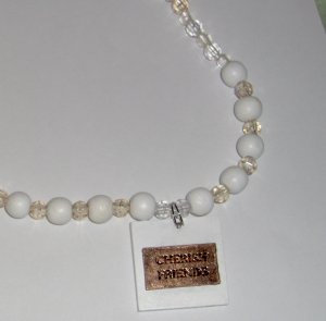 One of a kind necklace Cherish Friends costume jewelry