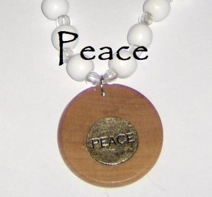 One of a kind necklace Peace costume jewelry