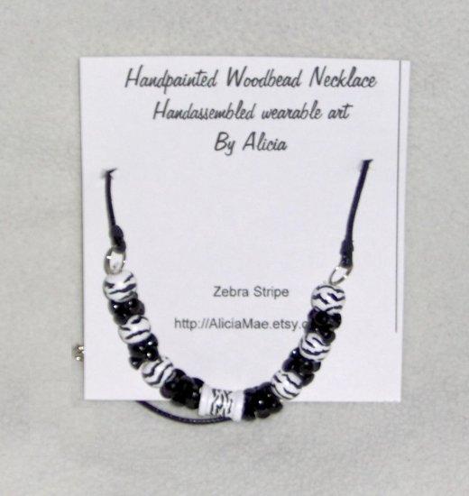Zebra stripe necklace