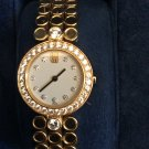 18k solid yellow gold Harry Winston diamond  ladies evening watch. With box and papers