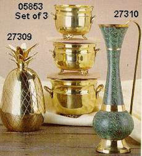 Set of 3 Brass Planters - #05853
