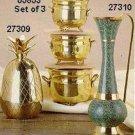 Set of 3 Brass Planters - #05853